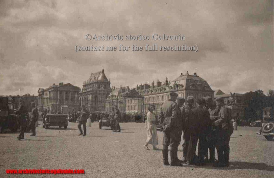 Versailles 1940, Versailles ww2, Versailles occupation, Versailles chateu, castello di Versailles seconda guerra mondiale, Versailles 1944, 9-7-1940
