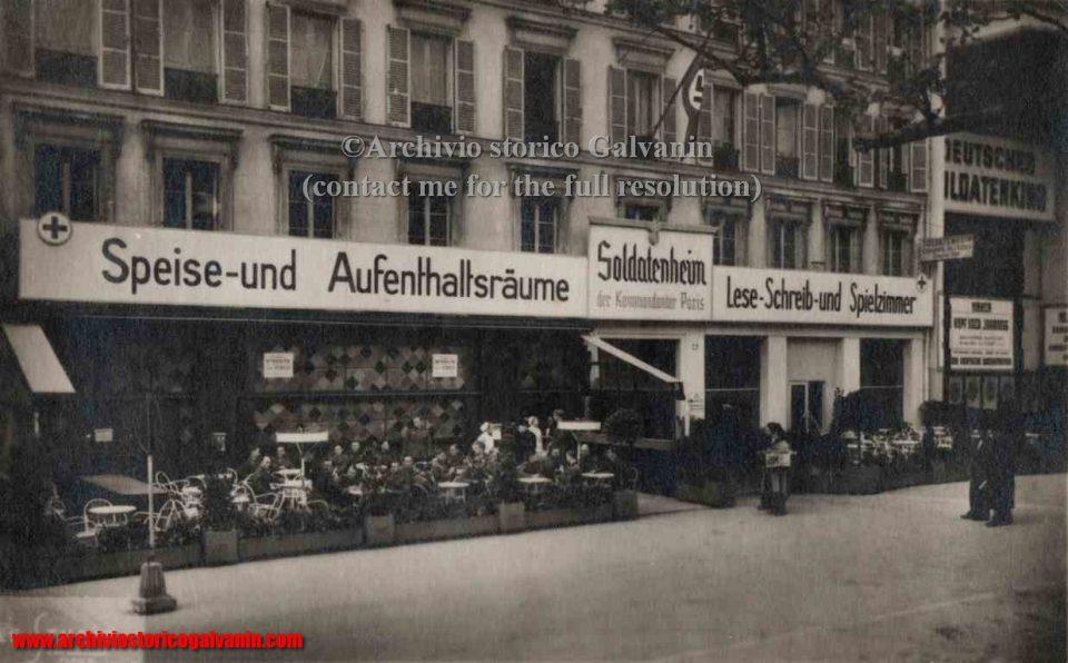 Soldatenheim Paris, 1940 Paris, Paris ww2, Paris 1941, Paris 1942, Paris 1943, paris 1944. Tedeschi a Parigi, soldatenheim 1940, pariggi occupata, Parigi nazisti, Caduta della Francia,  Campagna di Francia 1940