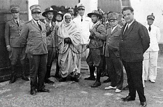 Omar al Mukhtar, colonialismo italiano, campagna dei senussi, Tripolitania, Cirenaica, Bengasi, carcere libico, crimini italiani libia