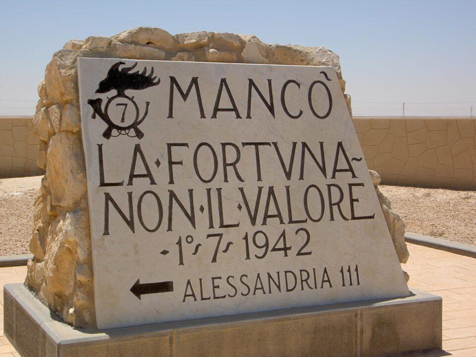 Mancò la fortuna non il valore, El Alamein, Alessandria, Egitto seconda guerra mondiale