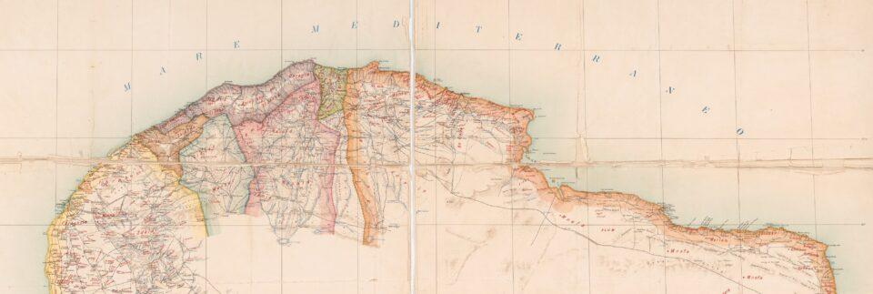 Cirenaica, Cirenaica mappa, Cirenaica cartina, tribù in Libia, Colonialismo italiano, mar mediterraneo mappa, campi italiani libia, indigeni libia, libia antica, storia della libia