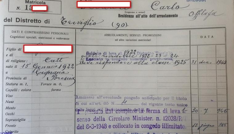 Foglio matricolare, ricerca foglio matricolare, ricerca caduri prima guerra mondiale, caduti Grande guerra elenco, richiesta foglio matricolare Archivio storico di stato